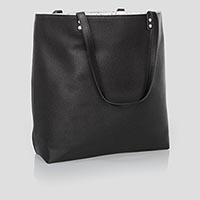 Around Town Tote - Black Beauty Pebble
