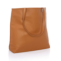 Around Town Tote - Caramel Charm Pebble