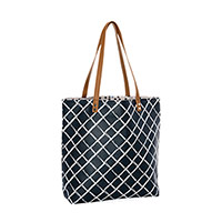 Around Town Tote - Dash of Plaid Pebble