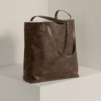Around Town Tote - Chestnut Distressed Pebble