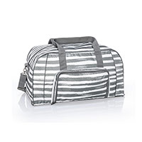All Packed Duffle - Grey Brush Strokes