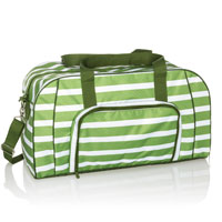 All Packed Duffle - Green Cabana Stripe