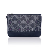 Rubie Mini - Navy Dotted Geo Pebble