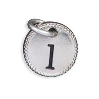Round Initial Charm - Silver Tone Initial L
