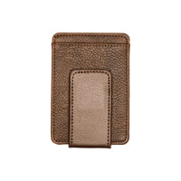 Essential Money Clip - Chestnut Distressed Pebble