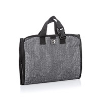 Fold-Up Family Organizer - Charcoal Crosshatch