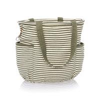 Retro Metro Bag - Olive Twill Stripe