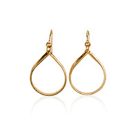 Luxe Loop Dangles - Gold Tone