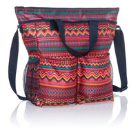 Crossbody Organizing Tote - Sierra Stripe