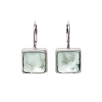 Gallery Earring - Marbled Blue