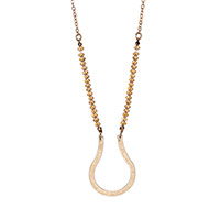 Charm Catcher Necklace - Gold Tone