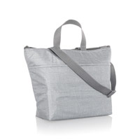 Crossbody Thermal Tote - Light Grey Crosshatch