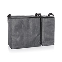 Double Chill Thermal Set - Charcoal Crosshatch