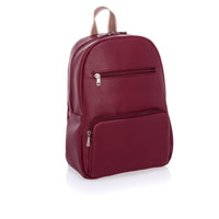 Boutique Backpack - Deep Merlot Pebble