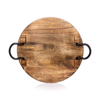 Close To Home Round Tray - Natural Wood