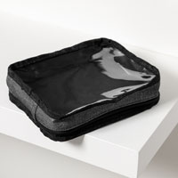 Get Creative Rectangle Pouch - Charcoal Crosshatch