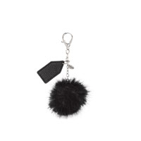 Finishing Touch Bag Charm - Black Pom