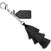 Finishing Touch Bag Charm - Black Tassel