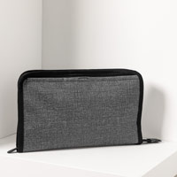Get Creative Zipper Pouch - Charcoal Crosshatch