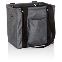 Small Utility Tote - Charcoal Crosshatch