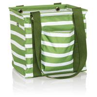 Small Utility Tote - Green Cabana Stripe