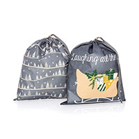Timeless Memory Pouches, Large - Snowy Slopes