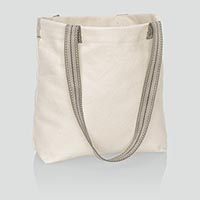Statement Canvas Mini Shopper - Natural