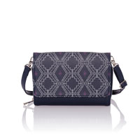 Inspired Crossbody Ltd. - Navy Dotted Geo Pebble