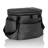 Get Creative Round Caddy - Charcoal Crosshatch