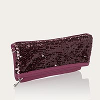 Forever Foldover Clutch - Crushed Berry Pebble w/ Sequins