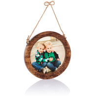 Close to Home Round Frame - Natural Wood