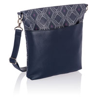 Organizing Shoulder Bag Ltd. - Navy Dotted Geo Pebble