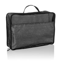 Medium Pack & Zip Cube - Charcoal Crosshatch