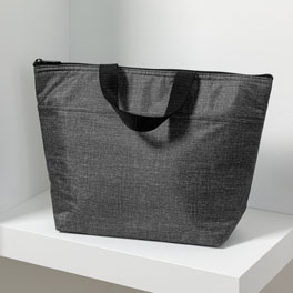 Thermal Tote - Charcoal Crosshatch