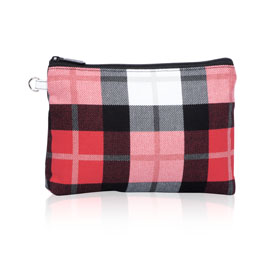 Mini Zipper Pouch - Check Mate