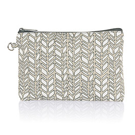 Mini Zipper Pouch - Chevron Charm