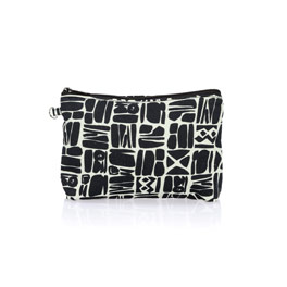 Mini Zipper Pouch - Ink Blocks