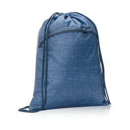 Cinch Sac - Blue Crosshatch