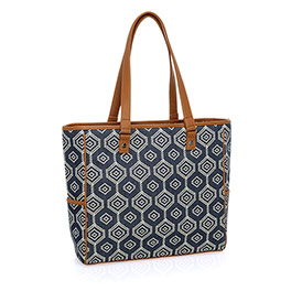 Cindy Tote - Dotty Hexagon