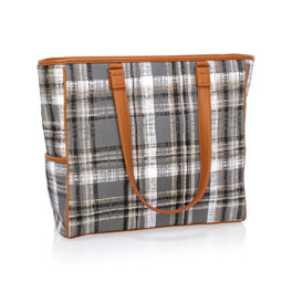 Cindy Tote - Cozy Plaid