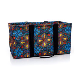 Large Utility Tote - Stitched Medallion