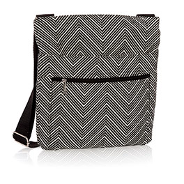 Organizing Shoulder Bag - Herringbone Weave