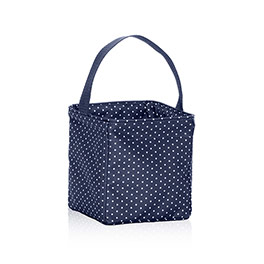 Littles Carry-All Caddy - Navy Swiss Dot