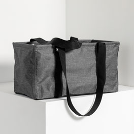 Medium Utility Tote - Charcoal Crosshatch