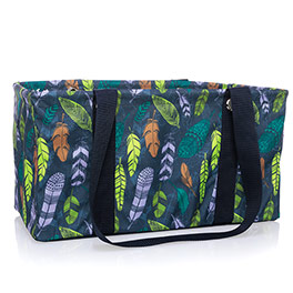 Medium Utility Tote - Falling Feathers