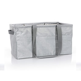 Deluxe Utility Tote - Light Grey Crosshatch