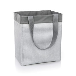 Essential Storage Tote - Light Grey Crosshatch