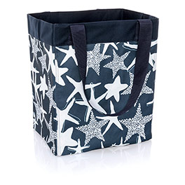 Essential Storage Tote - Navy Starfish Splash