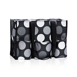 Zip-Top Organizing Utility Tote - Got Dots