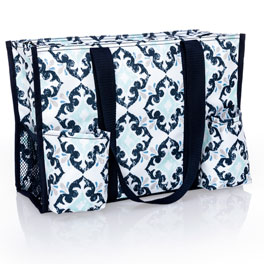 Zip-Top Organizing Utility Tote - Fab Flourish